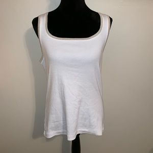 Chico's Tops - Chico's Metallic Trim Tivona Tank.